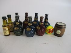 Selection of Scotch Whiskey miniatures to include Wade Royal salute x 7, one opened, Old St