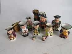 Large collection of Royal Daulton Burlinton Ware etc Tobe Jugs to include The Musketeers