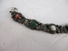 Vintage coloured stone Celtic bracelet.