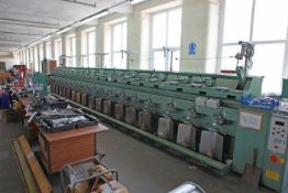 SCHARER assembly winder two or three fold Sn 84084 18 spindles