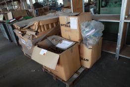 "Pallet of 4"" & 7"" mini cardboard tubes"