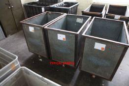 5 Galvanised Doffing Carts