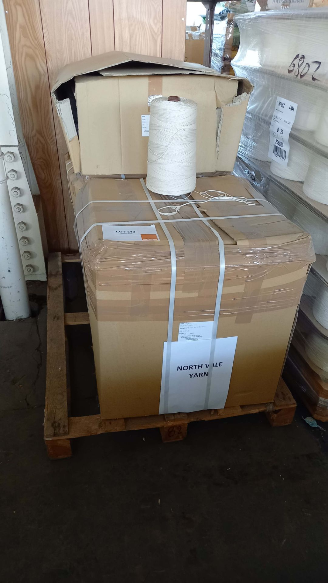 Pallet of 3 cartons of Mercerised Cotton Yarn 4/5/2/16 weight approx 140g