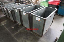 5 Narrow Galvanised Doffing Carts