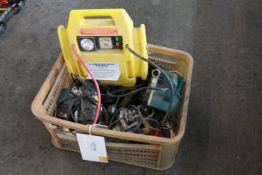 Box of non working electric hand tools and parts