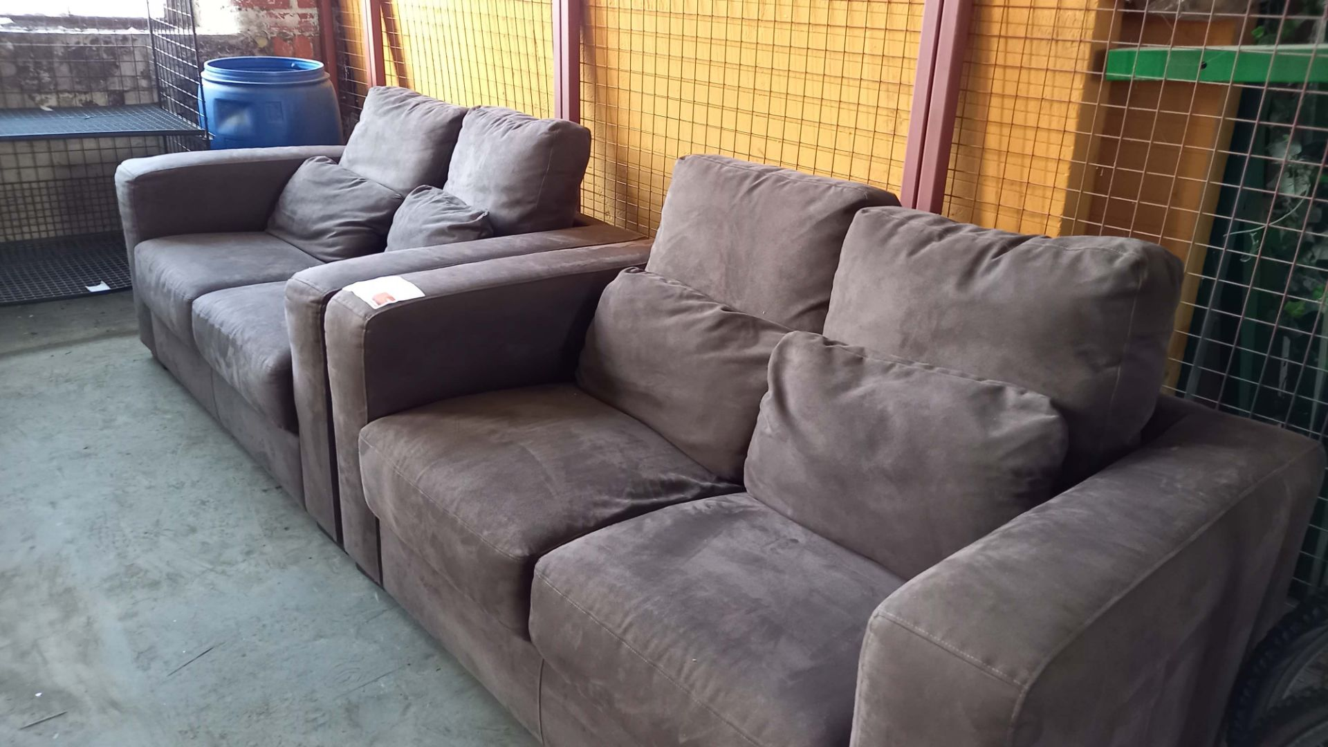 2 Two seater Settees in Brown