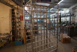 Aluminium Creel assembled 70 x 2 spindles
