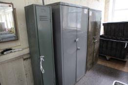 7 Double door steel cupboards