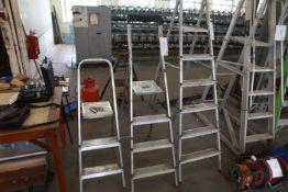3 Aluminium Step Ladders