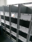 20 Open front stacking plastic storage boxes