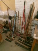 Sweeping brushes and shovels