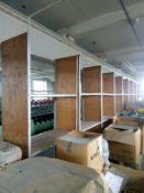8 Bays of steel framed shelving