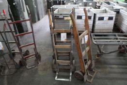 3 Wooden sack carts