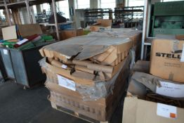 """2 Pallets of 11.5"""" new cardboard tubes 3"""" dia"""