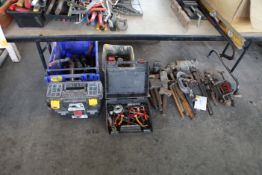 Grease Guns and tools to floor