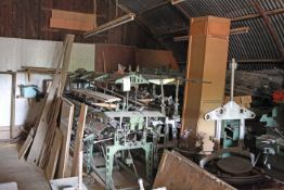 Large quantity of textile Machine Parts in 2 sheds