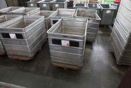 3 Aluminium Doffing Carts on castors