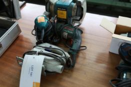 Electric hand tools inc Jigsaw Sander Drill and bench grinder
