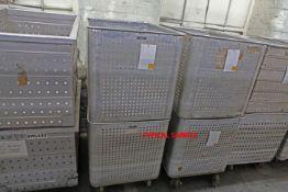 2 Aluminium Carts used for yarn steaming