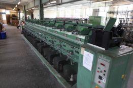 SCHARER textile winder 2 fold Sn 84050 12 spindle
