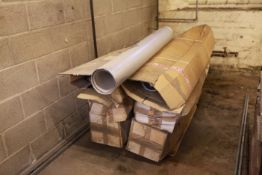 Boiler flue 12 Lengths of double wall stainless steel unused 1,500 long 150 dia