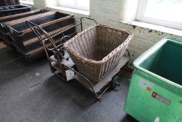 3 Cart Frames & Wicker Basket