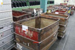4 Timber frame doffing carts