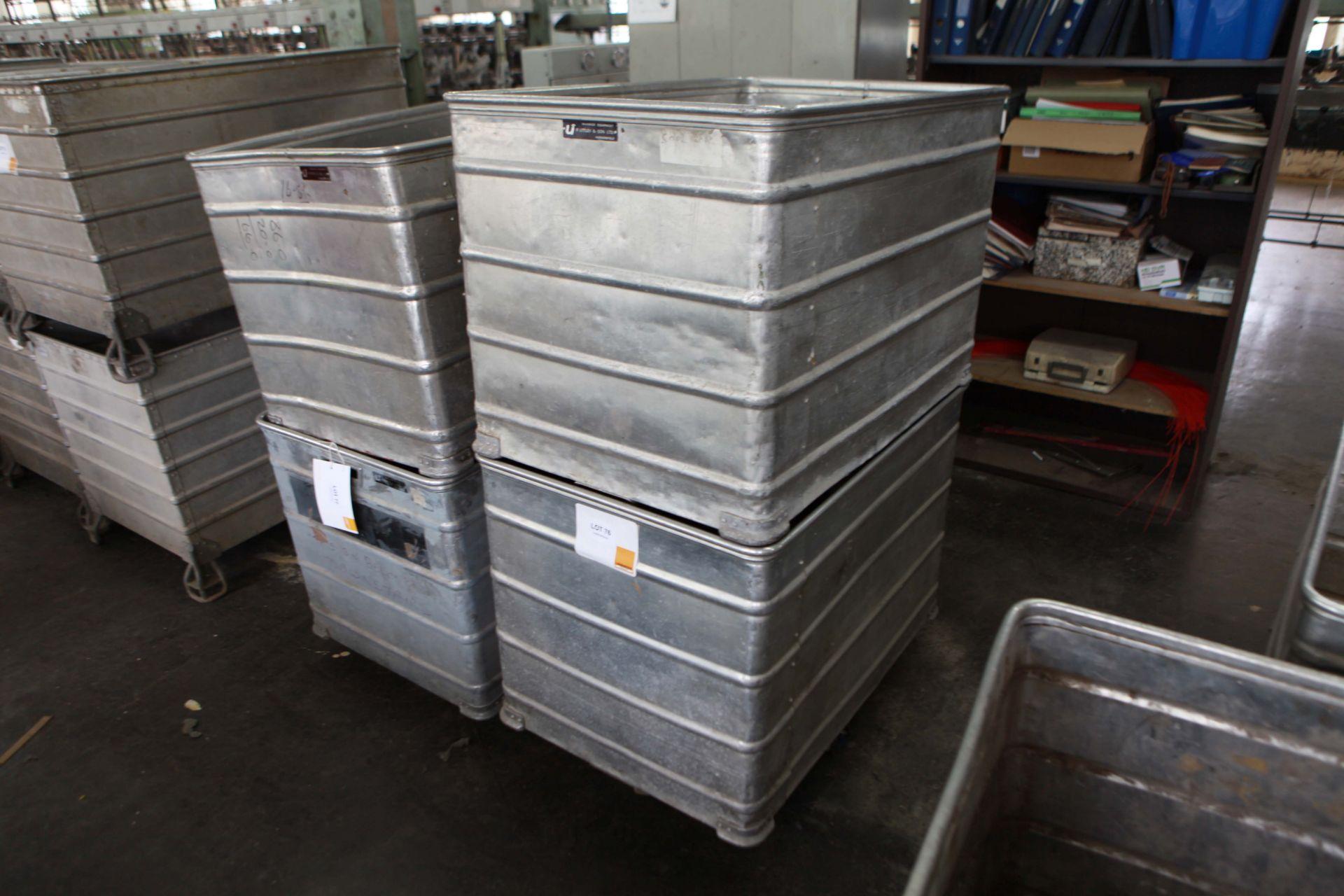 2 Aluminium Doffing Carts on castors