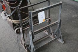 Pair of adjustable work trestles