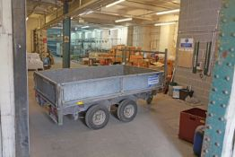 IFOR WILLIAMS 2 ton Twin axel trailer with sides