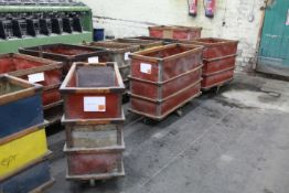 6 Timber frame narrow doffing carts