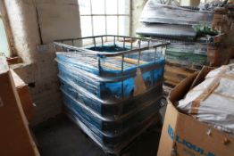 """Stillage of 10"""" Traverse non perforated plastic cones 2.75"""" base to 1.25"""""""