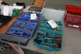 4 Boxes of drill bits