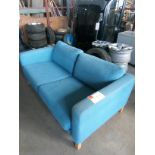 Two Seater Settee in Blue