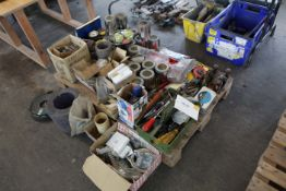 Pallet of tools fixings and sundries