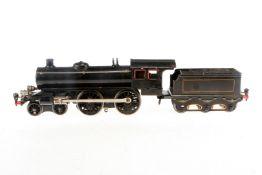 Märklin 2-B Dampflok, S 1, elektr., mit Tender und 2 el. bel. Stirnlampen, rest. und verändert,