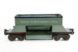Märklin Talbot-Selbstentlader 1915, S 1, uralt, handlackiert, Schwarzbereiche teilweise