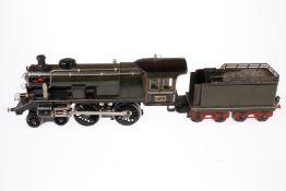 Märklin 2-B Dampflok EE 65/13021, S 1, elektr., oliv/schwarz, mit Tender und 2 fremden el. bel.