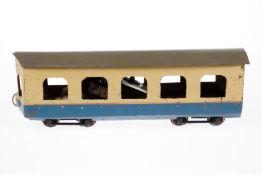 Prager Gartenbahntriebwagen, S 1, elektr., Metall, creme/blau, L 36, Z 4