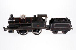 Märklin B-Dampflok, S 1, schwarz, mit Tender, Uhrwerkfeder fehlt, Z 4