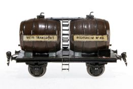 Märklin Weinwagen 2994, S 1, uralt, handlackiert, Lackschäden teilweise ausgebessert, gealterter