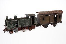 1-B Tenderlok, S 1, elektr., wohl Handwerksbetrieb Tschechoslowakei, Metall, grün, mit 2 el. bel.