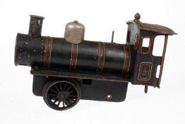 Bing B-Dampflok, S 1, uralt, elektr., schwarz, ohne Tender, nicht vollständig, Z 4