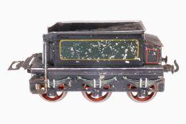 Bing 3A-Tender, S 2, uralt, handlackiert, mit Kohleblech und Kasten, Lackschäden, gealterter Lack, 1