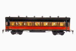Märklin PLM Personenwagen 1945 G, S 1, rot/schwarz HL, 4 AT, 4A Gussräder, mit Inneneinrichtung