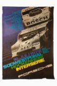 "Porsche Plakat ""Südwestpokal 1972, Entwurf: Strenger, L 74, H 100"