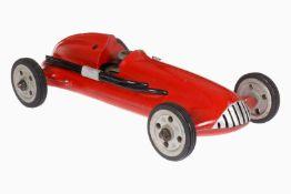 Maserati Rennwagen, Aluguss, HL, mit 1-Zylinder Verbrennungsmotor, Auspuff und Tankstutzen,