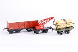 3 Hornby Güterwagen, S 0, je im OK, Z 3