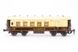 """Hornby Pullmanwagen """"Alberta"""", S 0, creme/braun, mit Beleuchtung und Fixkupplungen,"""