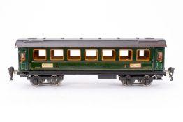 Märklin Personenwagen 1841, S 0, CL, mit 4 AT und Gussrädern, NV, LS und Alterungsspuren, L 29,5,